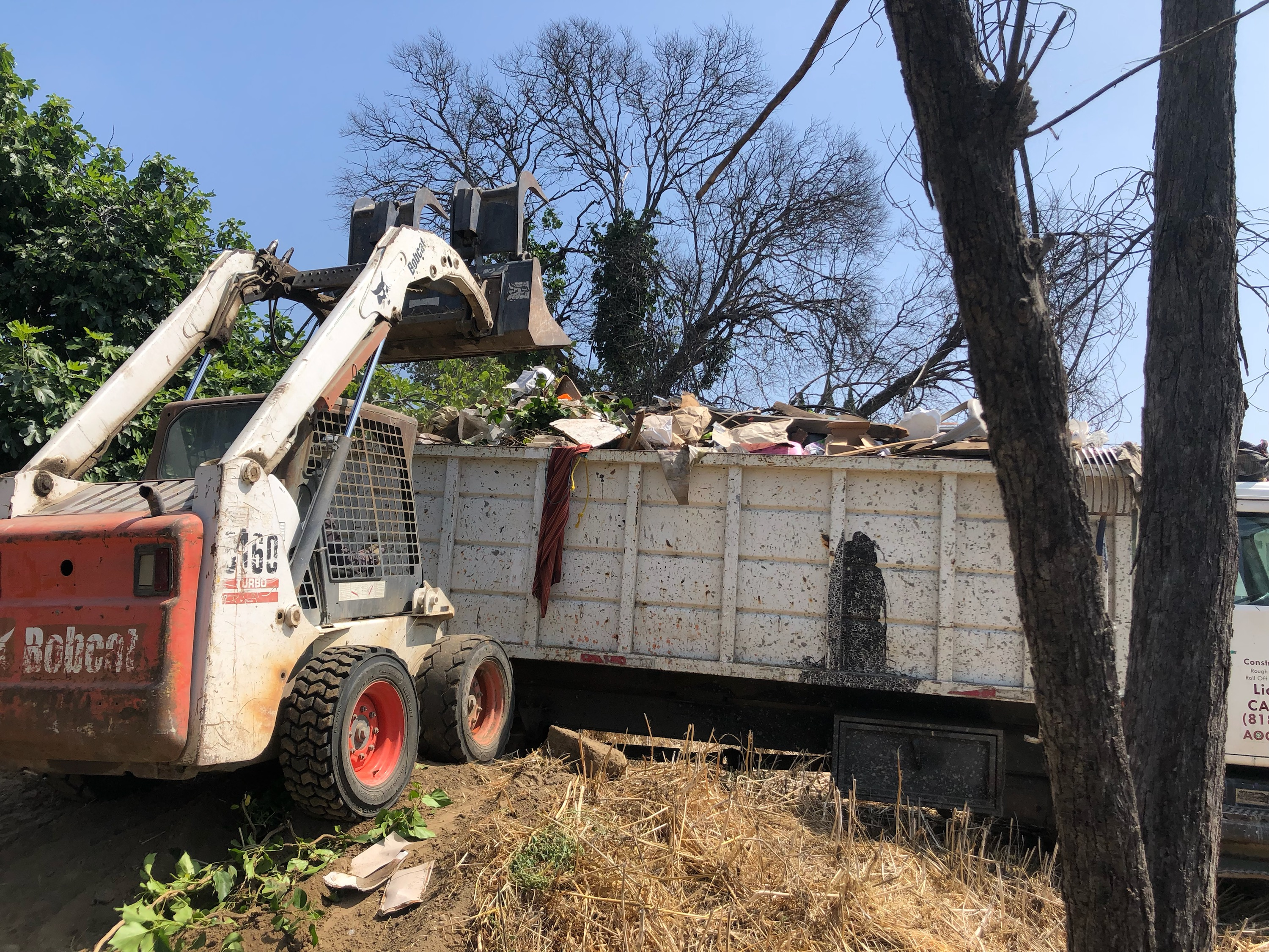 Bobcat tractor for Junk Removal